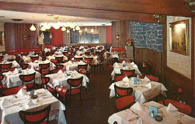 Postcard Chicago Armando S Restaurant Interior 1960s